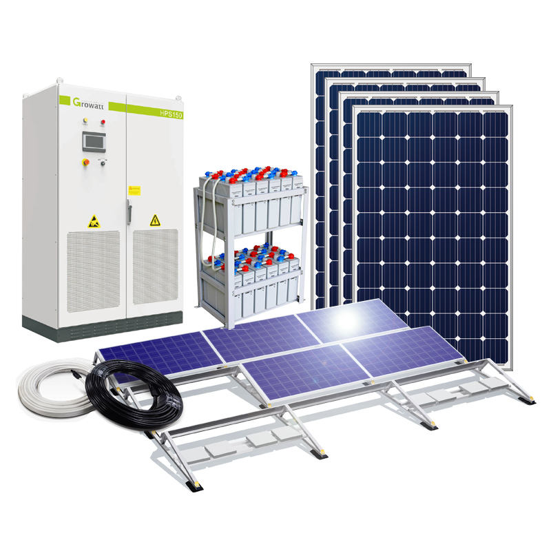 50KW 100KW Off Grid Solar System Hybrid solar system with battery power storage