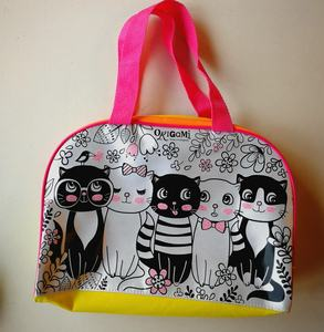 kids diy handbag drawing painting bag