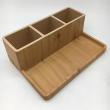 Natural Wooden Color Hotel or Home Resin Bathroom Accessories Set Amenity Tray