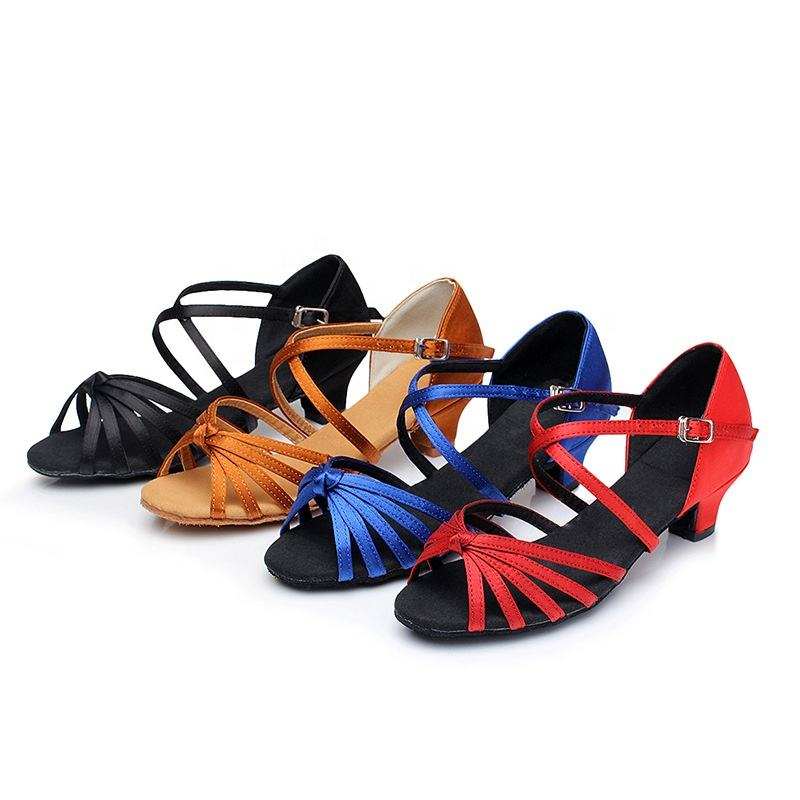AY204 Wholesale soft sole 4cm heel ballroom latin dance shoes for kids