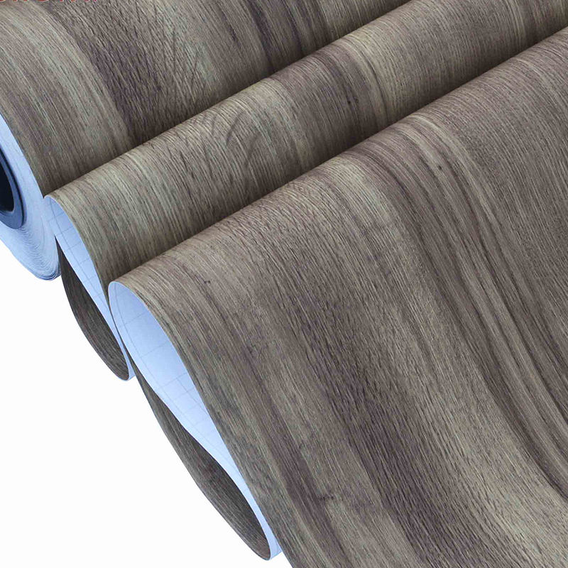 Factory supply Self adhesive PVC wood grain vinyl wrap decorative film for furniture decoration