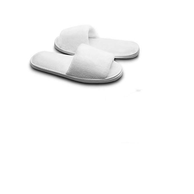 Luxury Disposable White Plain Spa Hotel Bathroom Slippers
