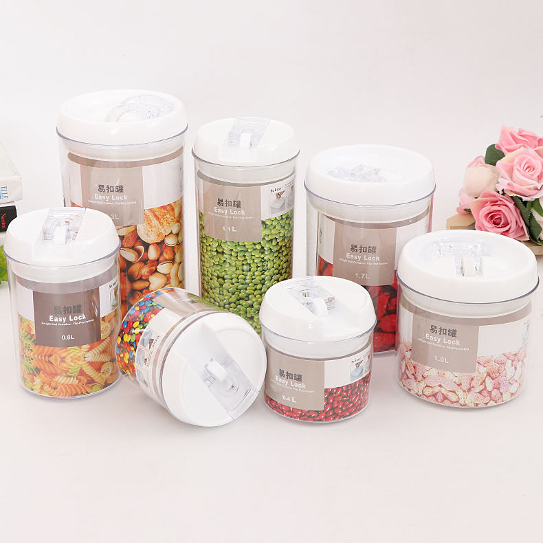 Customized 12.8*12.8*23cm Reusable 2.3L Airtight Seal Plastic Food Storage Containers