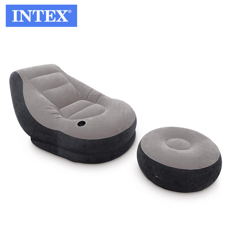 intex 68564 ultra lounge inflatable sofa inflatable chair with ottoman