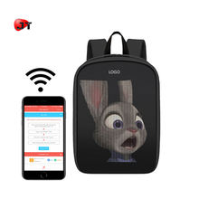 Trend Newest Waterproof Phone WIFI Control Software Editing Smart LED Screen Backpack With Hidden LED Display