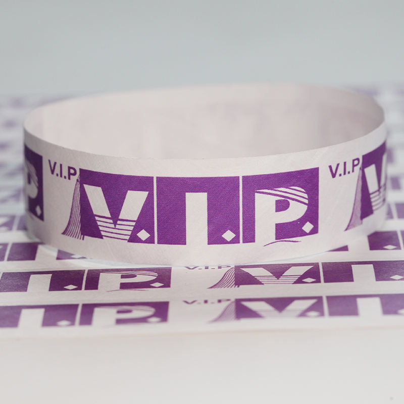 Custom Romantic Wedding favor Tyvek Paper Wristbands for guests