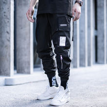 Killwinner 100 polyester multi pockets joggers men brand black waterproof loose webbing sports function cargo pants