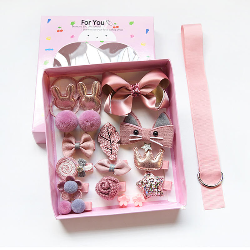2019 high quality cute hair clips for girls handmade baby hair accessories set for baby hairbands