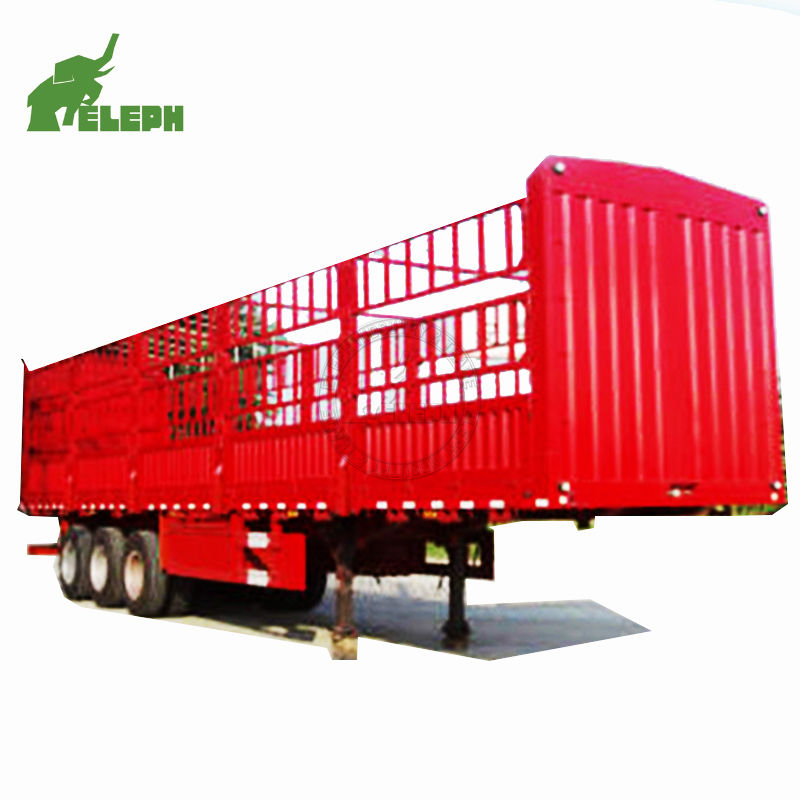 2 axles 3 axles 30ton 40ton 40ft stake house bar fence semi sheep truck trailer (dimension optional)
