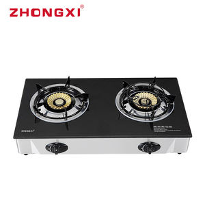 Ceramic Gas 2 plate Burner table top Stove double burner gas cooker hob