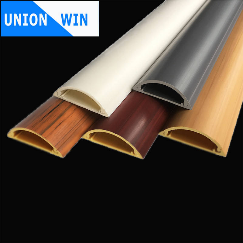 adhesive PVC cable duct plastic flooring wire way corner duct cable raceway PVC cable trunking size