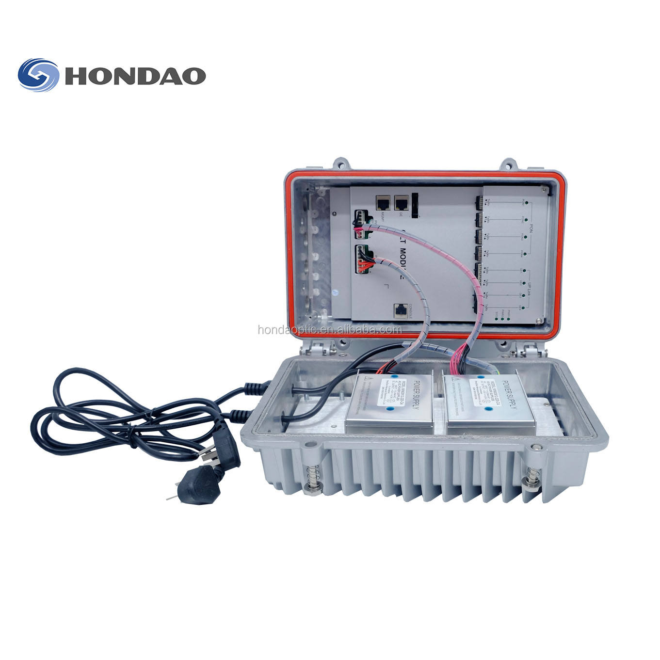 Hondao Outdoor 4PON Port sfp EPON/GEPON OLT Provide EDFA and WDM