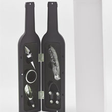 Hot selling 5 pieces wine  bottle shaped gift set with good quality and price made in china