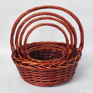 New product cheap storage willow wicker wire storage  gift baskets