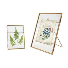 4x6 hot sale wedding decoration metal glass gold picture photo frame wholesale