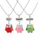 Best Friend Cartoon Enamel Pendant Necklace Set for Girls Kid Teen Friendship Sister BFF for 3, Cheap Necklace for Promotion