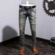 Made in China men's jeans slim nostalgia retro locomotive trousers men