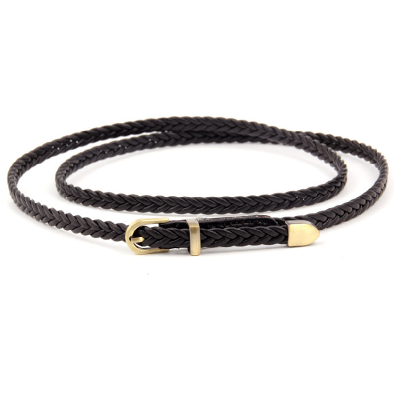 2019 Factory Direct Selling Fashion Women Custom Webbing Plaited Textile Canvas belt