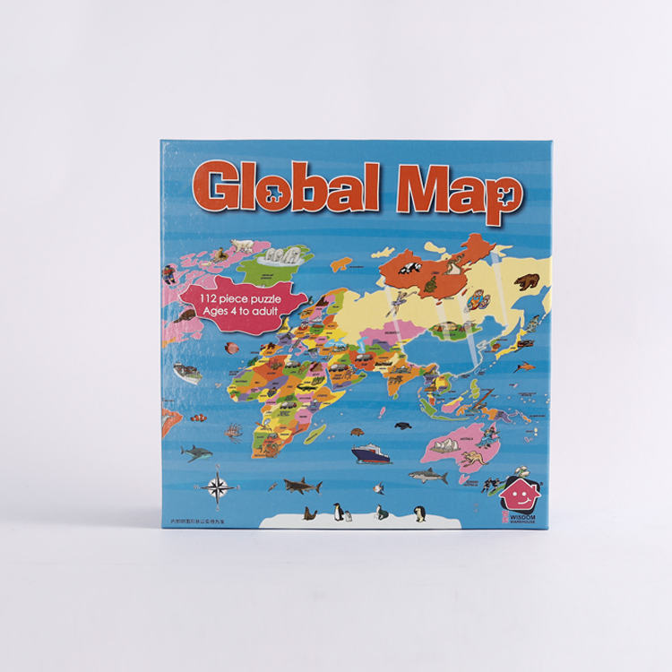 Printable Global Map Jigsaw Puzzle