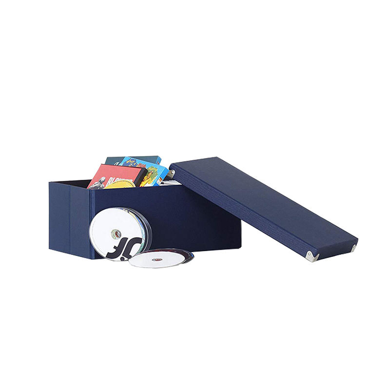 Navy 색 foldable metal 파일 <span class=keywords><strong>storage</strong></span> <span class=keywords><strong>box</strong></span> 와 <span class=keywords><strong>lid</strong></span>
