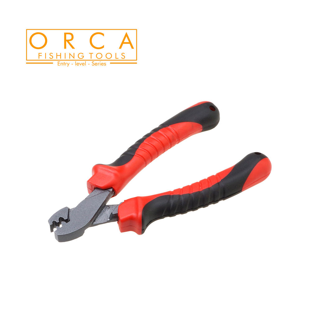 high quality 6.2 inch Carbon Steel fishing pliers,with Dual-color Wear resistance PVC handle,for lure\fly\boating fishing,tools