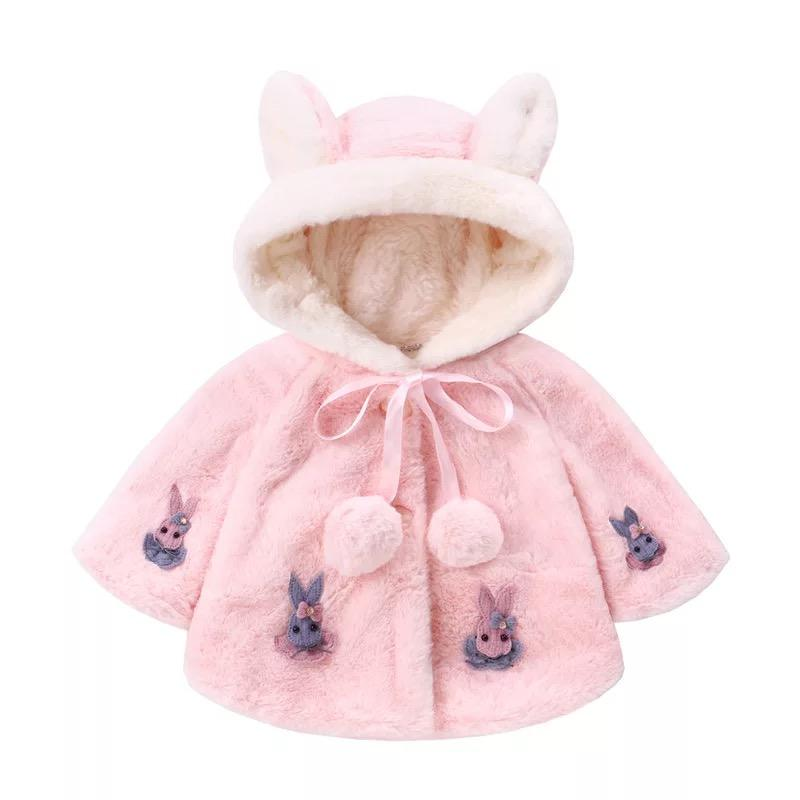 wholesale girl cosplay cloak plush cuddly cute rabbit custom soft baby children animal cloak winter plush cloak for gift
