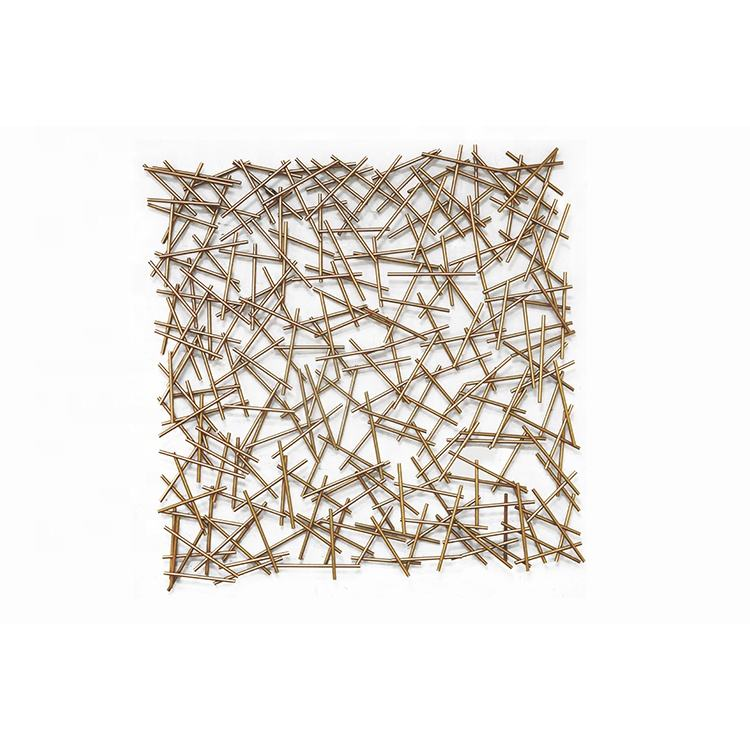Mayco Garden Decoration Gold Wire Metal Wall Art