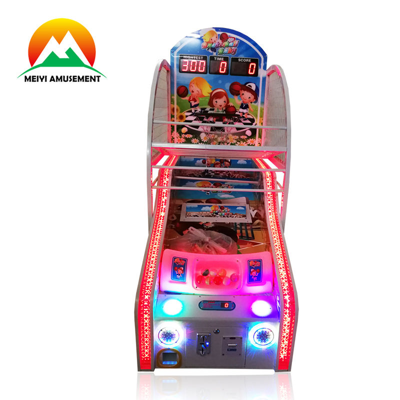 Coin Operated mini basketball game machine for kids Indoor Sports Street Basketball Game Machine