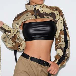 New arrival fashion camouflage women sexy crop tops