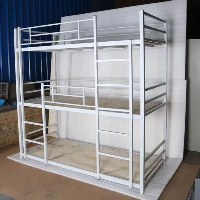 Modern cheap custom popular metal triple bunk bed; 3 levels bunk bed; triple bed bunk
