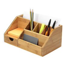 New Products Desk Organizer Stationery Bamboo Table Pen Holder