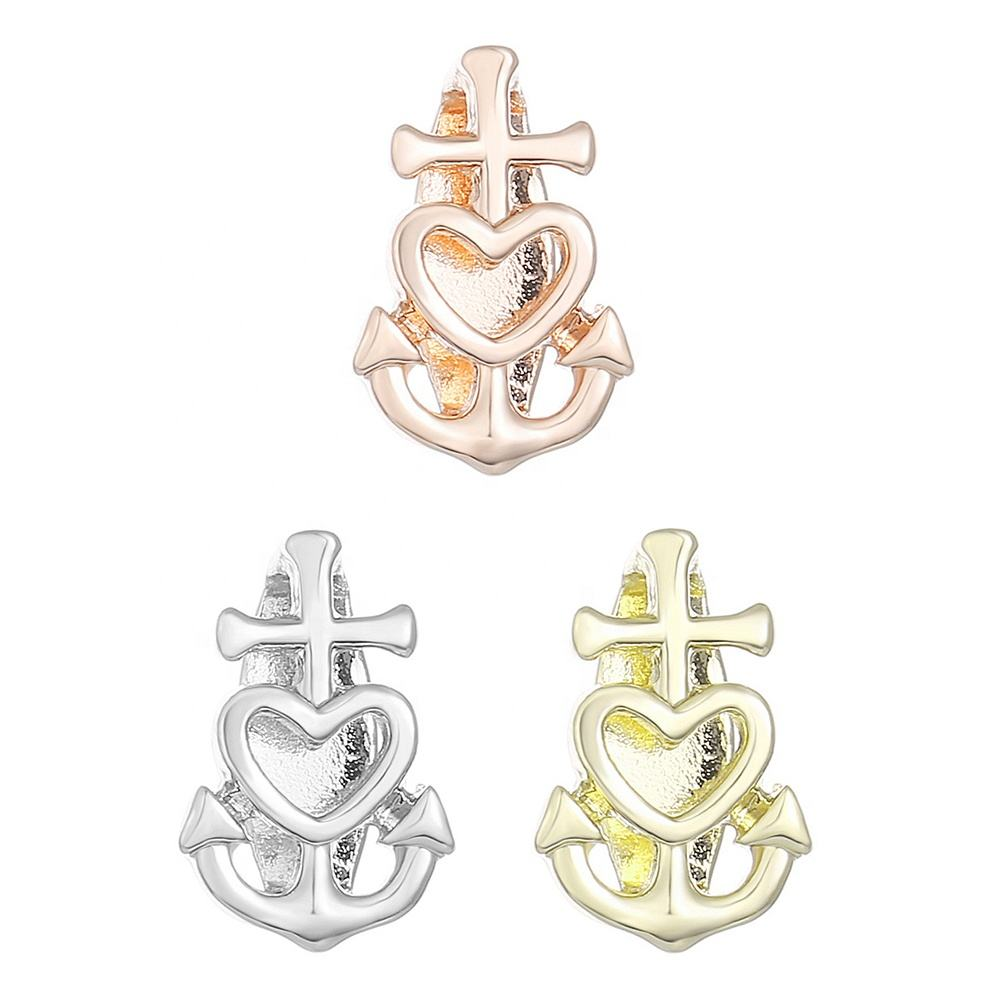 Lead And Nickel Free Alloy Anchor Bracelet Charms For Bracelet Making