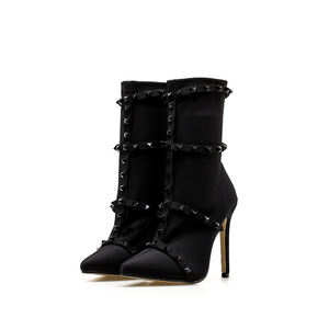 90424-MX12 2019 new fashion wear sexy rivet high heel stiletto boots