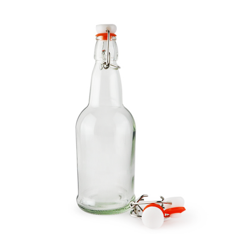 500ml Fancy Wine Glass Material Ceramic Swing Top Beer Bottles For Sale