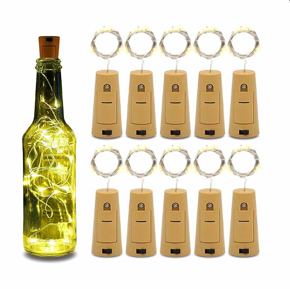 2M LED Wine Bottle Lights Cork Battery Powered Garland DIY Christmas String Lights For Party Halloween Wedding Decoracion