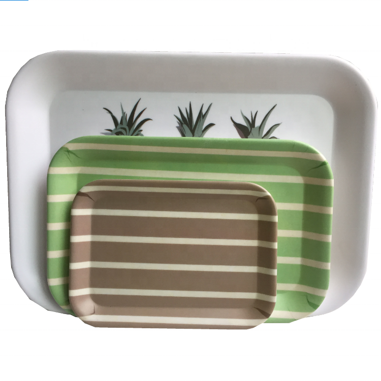Difference Size Non-Slip Melamine Food Grate Serving Tray