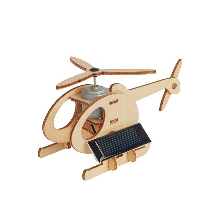Wooden Puzzle 3D Educational Solar Powered Toys