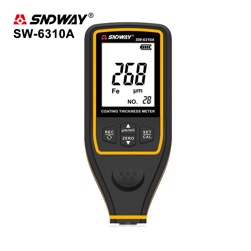 SNDWAY Digital Thickness Gauge Width Measuring Instruments Thickness Gauges Paint Film Coating Tester SW-6310A