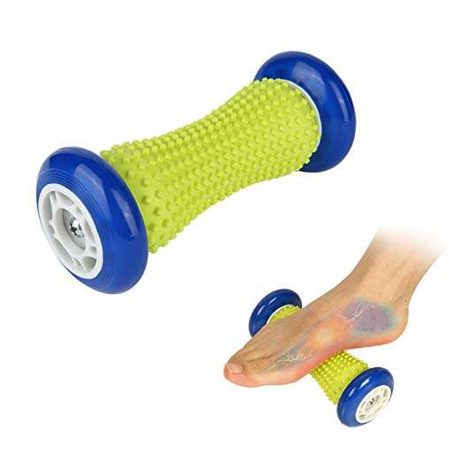 Foot Massage Roller and Hard Spiky Ball Set Perfect for Plantar Fasciitis Recovery