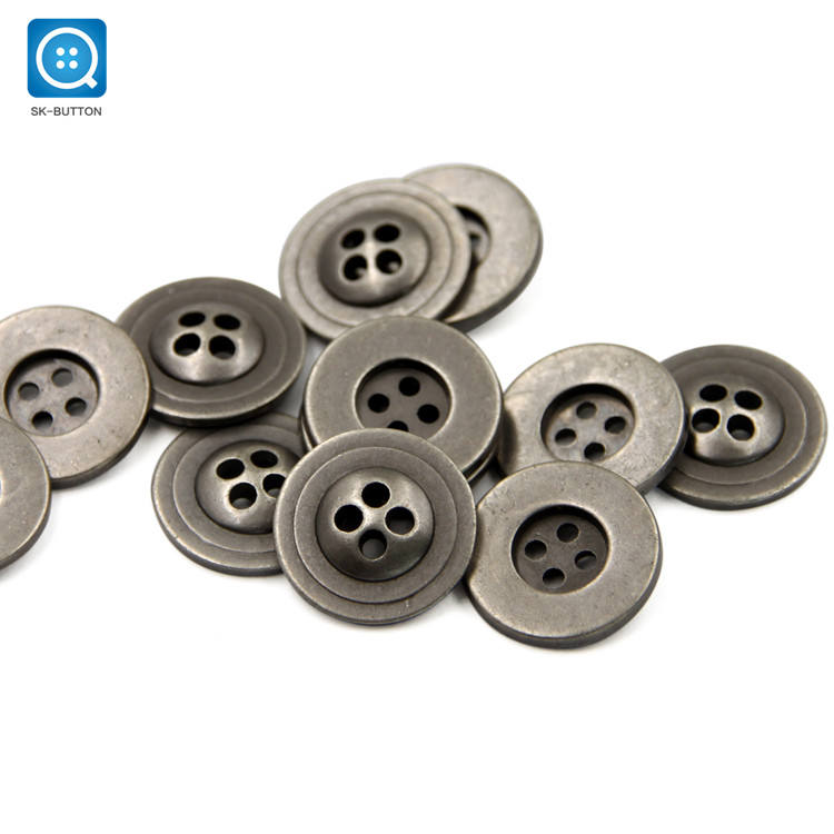 SK Cheaper Price Good Quality Customer Logo Design 4穴Metal Sewing Button