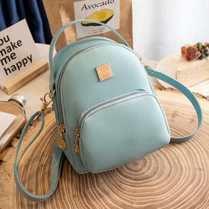 9F043 fashionable smart womens vintage backpack leather outdoor bag backpacks for girls