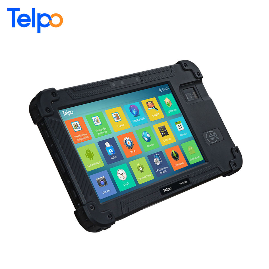 Arabic Support Ip67 Mobile Industrial Tablet PC with 2D Barcode Scanner QR Code,PDF417 Code TPS450