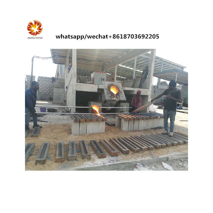 Small induction melting furnace billet production machine