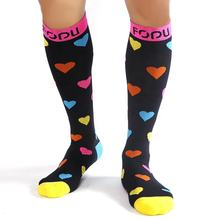 Pofu Long Socks Knee High Sport Compression Socks High Socks Womans