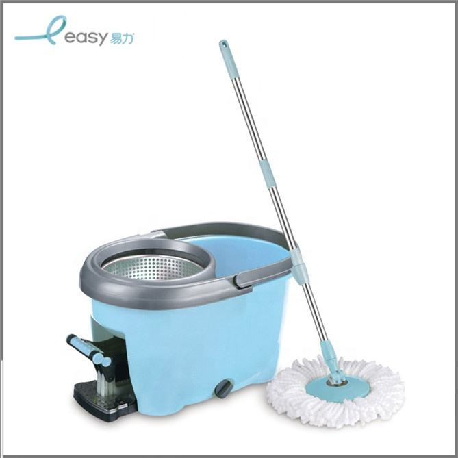 360 Magic Rotating Pole Mop Floor Cleaning Mop With Mop Bucket And Foot Pedal