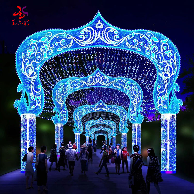 2020 New Products18 Years Experience Factory Outdoor Waterproof Decoration 3D Christmas Decorative LED Street Rope motif Lights