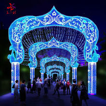 2021 New Products18 Years Experience Factory Outdoor Waterproof Decoration 3D Christmas Decorative LED Street Rope motif Lights