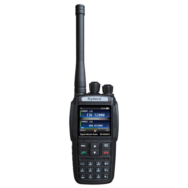 DR-8500UV GPS UHF VHF Dual Band DMR Berguna Radio Radio Militer 50Km Digital Walkie Talkie dengan Roaming