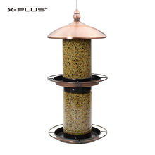 1.5L Automatic Humming Bird Pet Seed Metal Hanging Copper Pet Automatic Bird Feeder