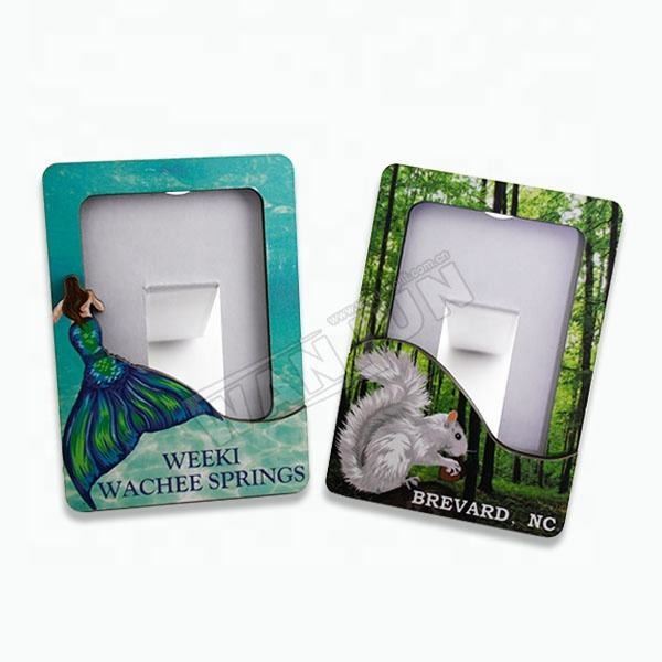 Personalised Souvenir Fridge Magnet Photo Frame